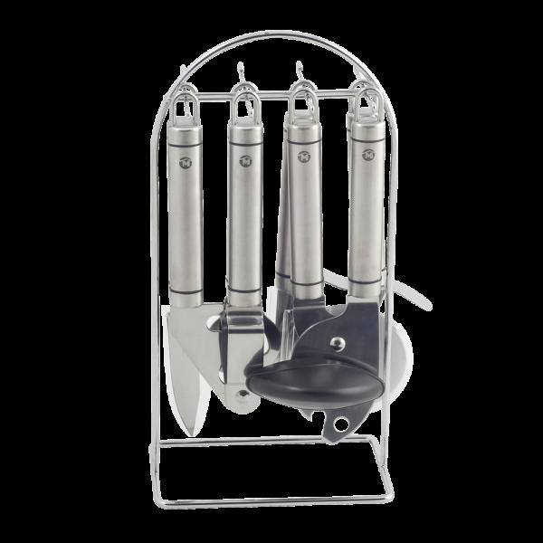 metaltex victoria juego 6 utensilios cocina con soporte